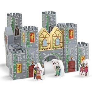 MELISSA & DOUG 10532 Wooden Learning Castle Blocks